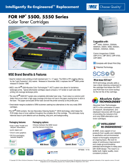 FOR HP® 5500, 5550 Series Color Toner Cartridges