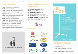 Programa de Mano Festival Intercentros