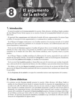 Propuesta Didáctica Unidad 8. Lengua castellana y