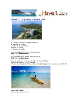 HAWAII 1.0 | OAHU