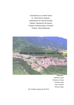 crónica del municipio andrés bello (cordero)