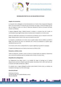 Información general de Programa de XXII Encuentros Estatales