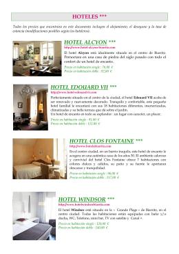 Lista Hotels 3 Estrellas