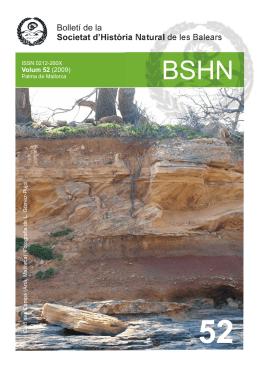 Bolletí de la Societat d`Història Natural de les Balears