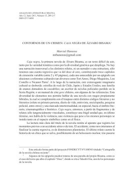 Contornos de un crimen: Caja negra de Álvaro Bisama