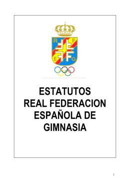 estatutos real federacion española de gimnasia
