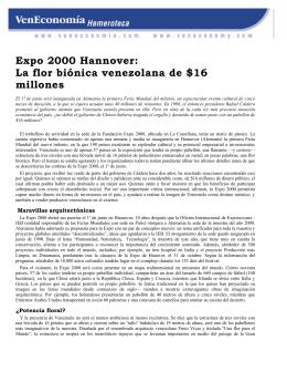 Expo 2000 Hannover: La flor biónica venezolana de $16 millones