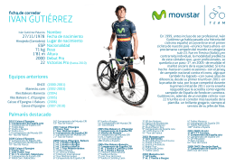 IVÁN GUTIÉRREZ - Movistar Team