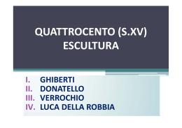 QUATTROCENTO (S.XV) ESCULTURA