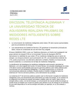 Ericsson, Telefónica Alemania y la Universidad Técnica de