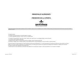 Dossier alérgenos Cantina Mariachi