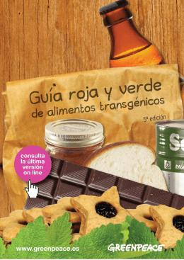 Guía roja y verde de alimentos transgénicos 5ª
