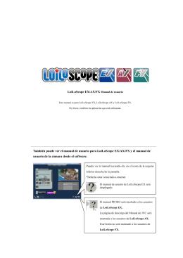 LoiLoScope EX/AX/FX Manual de usuario También puede ver