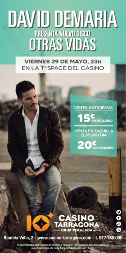 DAVID DEMARIA - Casino Tarragona