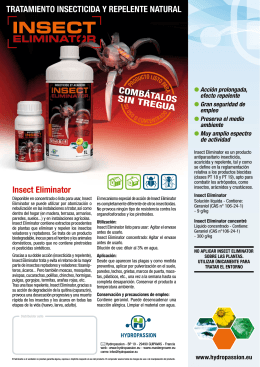 Insect Eliminator COMBÁTALOS SIN TREGUA