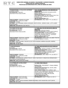 Marzo 2004 - Dirección General de Radio, Televisión y