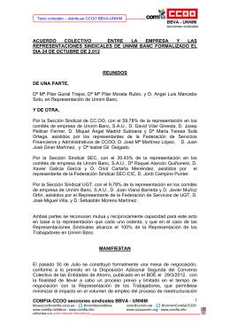 COMFIA-CCOO secciones sindicales BBVA