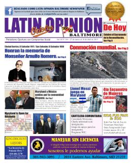 edicion 245 - Latin Opinion Baltimore Newspaper