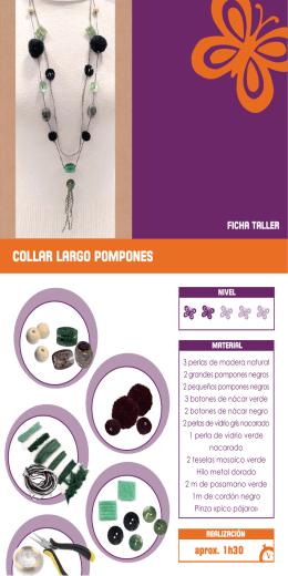 collar largo pompones