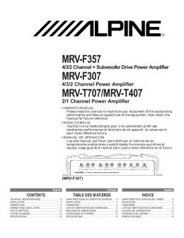 MRV-F357 MRV-F307 MRV-T707/MRV-T407 - Hi-Fi