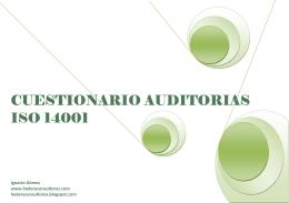 cuestionario cuestionario auditorias auditorias auditorias iso 14001