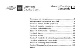 Contenido Chevrolet Captiva Sport