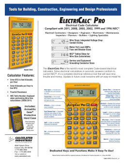 ELECTRICALC® PRO - Platt Electric Supply
