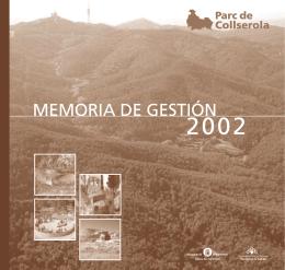 MEMORIA DE GESTIÓN - Parc de Collserola