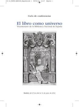 Programa del ciclo El libro como universo