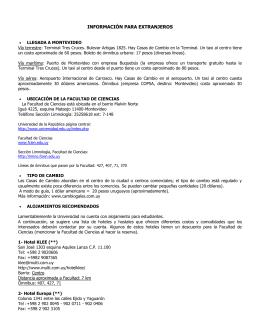 información para los estudiantes extranjeros