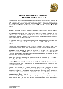 BASES DEL CERTAMEN NACIONAL DE BELLEZA