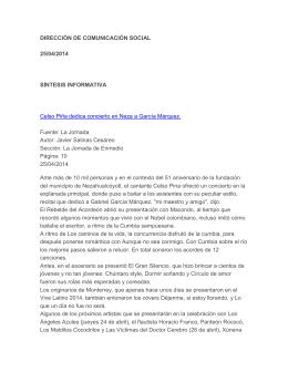 DIRECCIÓN DE COMUNICACIÓN SOCIAL 25/04