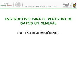 instructivo para el registro de datos en ceneval proceso de admisión