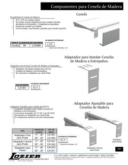Componentes para Cenefa de Madera