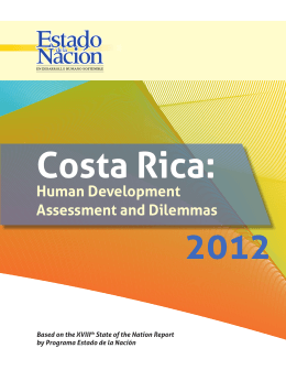 Costa Rica: Human Development Assessment and Dilemmas (2012)