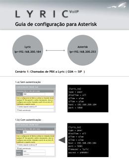 Guía de configuração para Asterisk