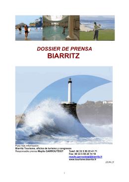 Dossier de Prensa Biarritz