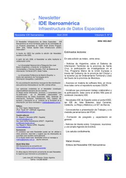 IDE Iberoamérica - RedGeomatica