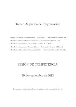 Problemas - Torneo Argentino de Programación