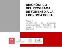 Programas Gubernamentales Federales de apoyo al Sector