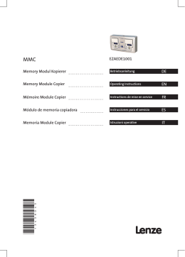 Operating Instructions EZAEDE1001__Memory module copier