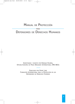 manual proteccion defensores de derechos humanos