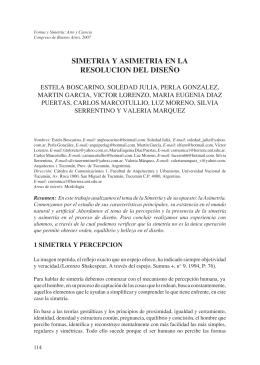 SIMETRIA Y ASIMETRIA EN LA RESOLUCION DEL DISEÑO