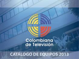 CATÁLOGO DE EQUIPOS 2013