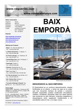 BAIX EMPORDÀ - Vegueries.com