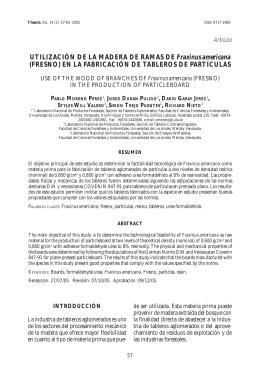 UTILIZACIÓN DE LA MADERA DE RAMAS DE Fraxinus americana
