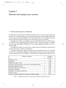 Capítulo 3 Elementos del transporte por carretera