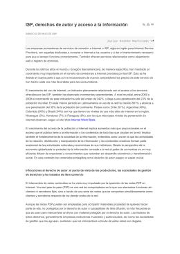 ISP, derechos de autor y acceso a la información