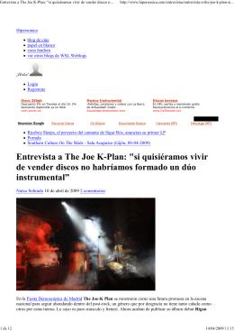 Hipersonica - Entrevista