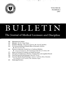 VQLUME S4 NL.7MBER 3 - Federation of State Medical Boards